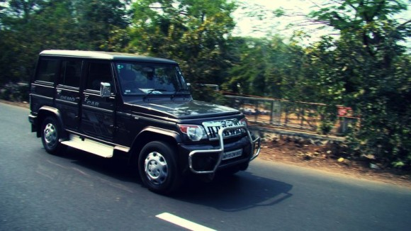 Mahindra Bolero on road