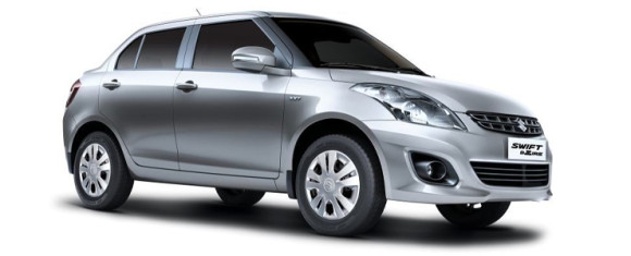 Maruti Swift DZire on road