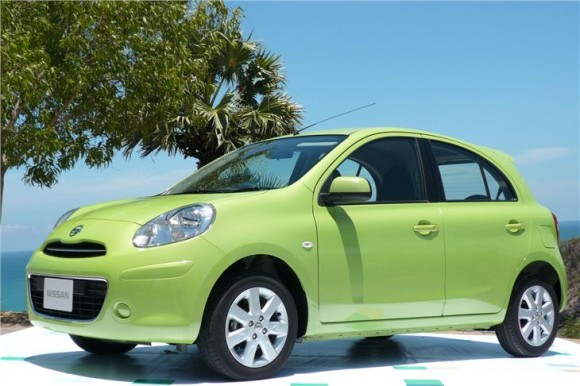 Nissan Micra in Green color