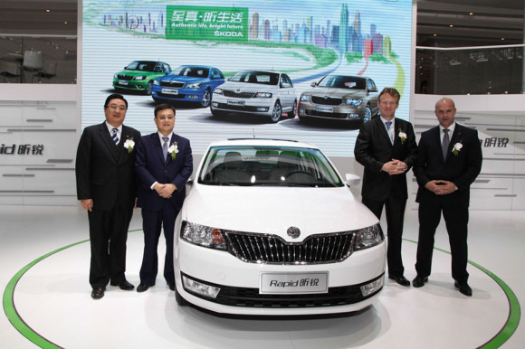 Skoda Rapid in show room