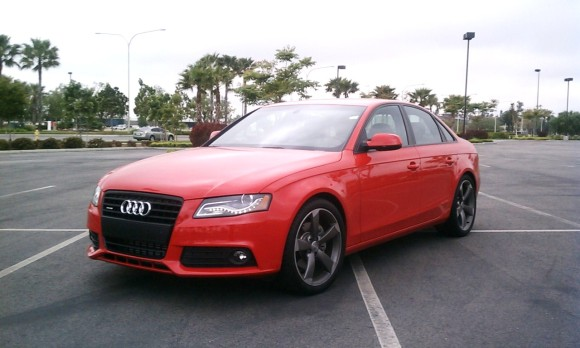 Audi A4 in Red colour