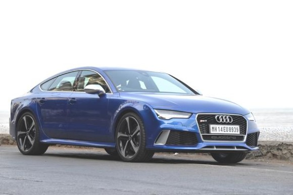Audi RS7 Front On Road