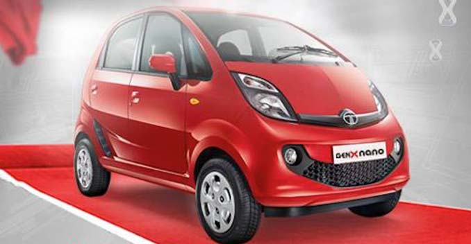Tata Nano GenX Red color