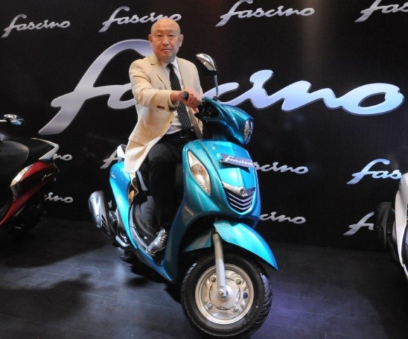 Yamaha Fascino Scooter Blue