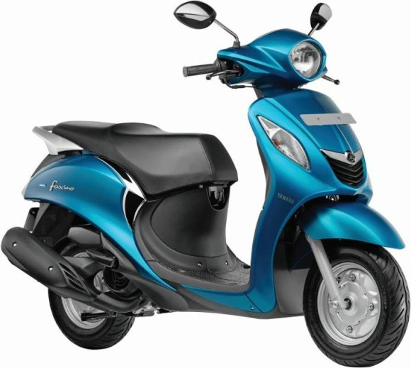 Yamaha Fascino Scooter blue Side