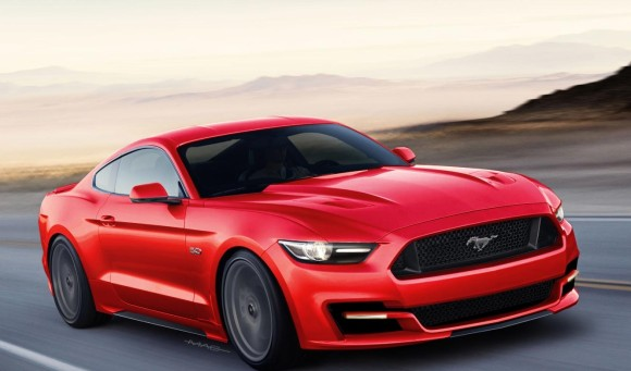 Ford Mustang 2015 on Road