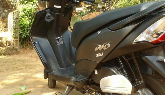 Honda Dio Side View black