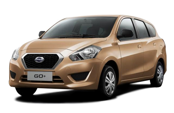 Datsun Go Plus HD pics in Gold Color