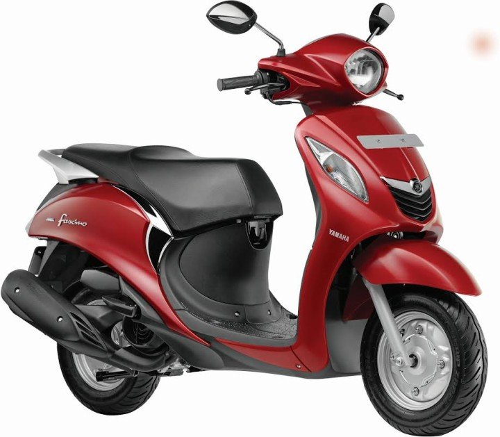 Yamaha Fascino Scooter Red side